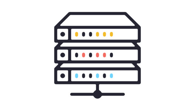 Software Hosting Line Icon Animation with Alpha