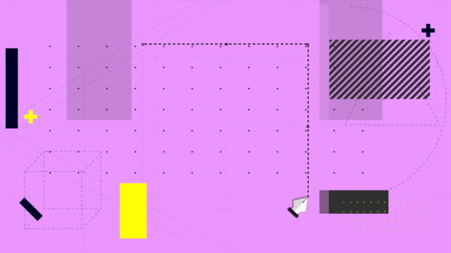 Video Software tools cutting a removing a section of pink grid background