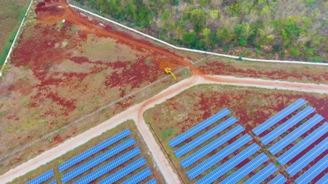 Solar cell Panels in Solar Power Station video