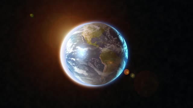 solförmörkelse och solen bländning 4k - earth from space bildbanksvideor och videomaterial från bakom kulisserna