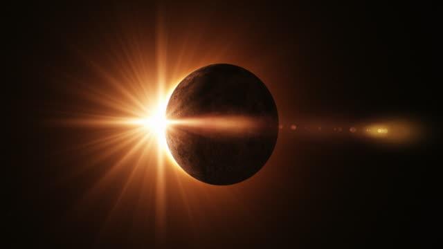 4K Solar Eclipse Animation