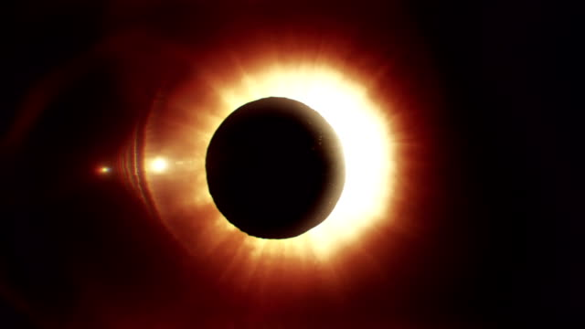 Solar eclipse caused by a Lunar event with ring of fire. video