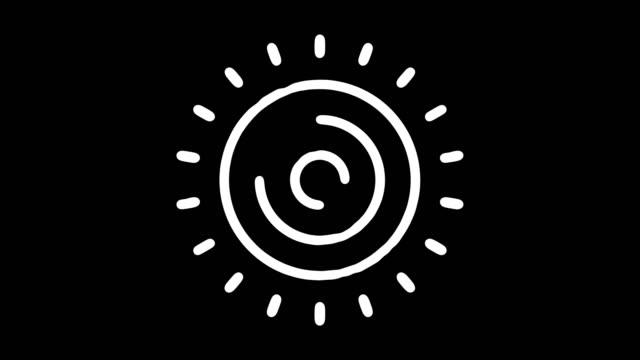 stockvideo's en b-roll-footage met zonne-energie blackboard lijn animatie met alpha - doodles