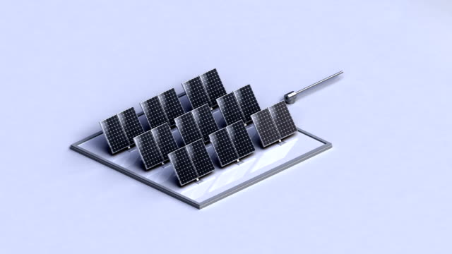 Solar energy changed power electric energy. supply electricity. white version.