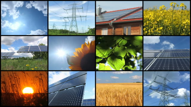 Solar Energy - Montage Time lapse of Solar power plant - Montage solar panels videos stock videos & royalty-free footage