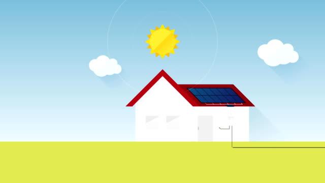 태양 에너지 생산 태양 전지 패널 개념 - 태양 에너지 스톡 비디오 및 b-롤 화면