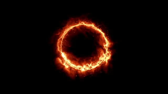 solar fire ring con chanel alpha in bianco e nero. - flare video stock e b–roll