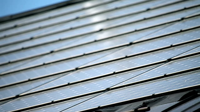 HD CLOSE UP: Solar moduls video