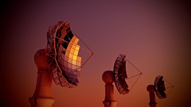 solar panel dish hd animation - çığır açan stok videoları ve detay görüntü çekimi