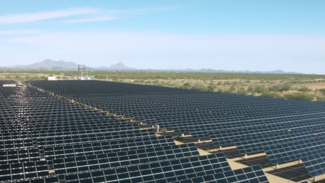 solar panel farm - solar panels stock videos & royalty-free footage