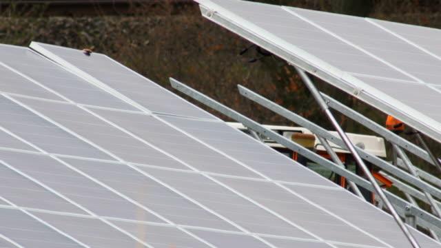 Solar Panel Installation Medium Shot video