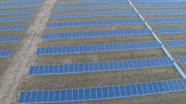 Solar Panels Aerial video