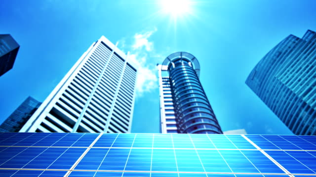 Solar panels in the city video
