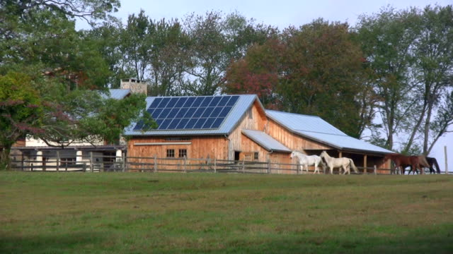 Solar Panels on Farm. Alternative Energy. video