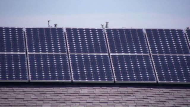 Solar Panels. Roof. HD. video