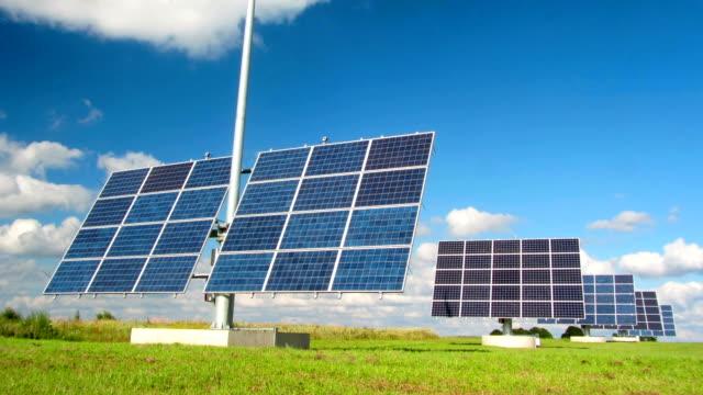 solar panels, time-lapse