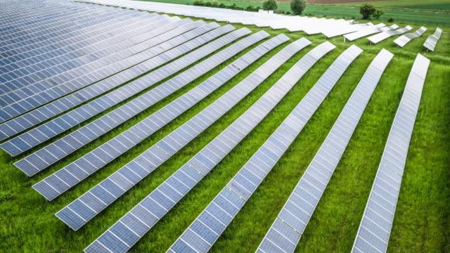 AERIAL: Solar Panels video