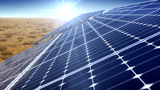 solar plant - solar panels stock videos & royalty-free footage