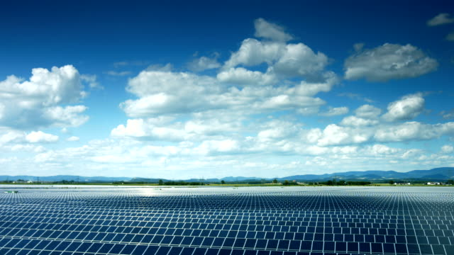 T/L Solar Power Plant In Bavaria (4K/UHD to HD) video