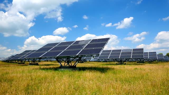 Solar Power Plant, time lapse video