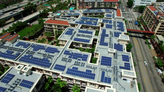 solar power rooftop - solar panels stock videos & royalty-free footage
