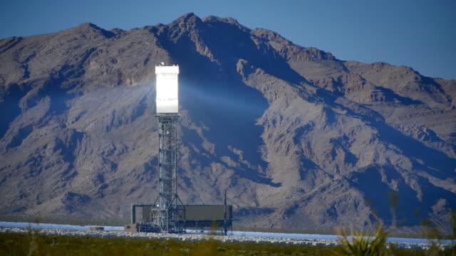 Solar Power Tower Left 4K video