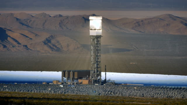 Solar Power Tower Time-lapse 4K video