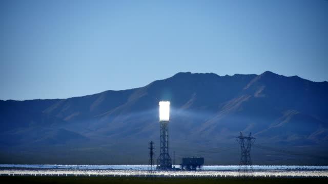 Solar Power Tower Wide 4K video