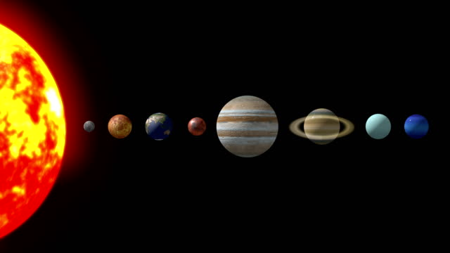4k solar system animation |loopable - jowisz filmów i materiałów b-roll