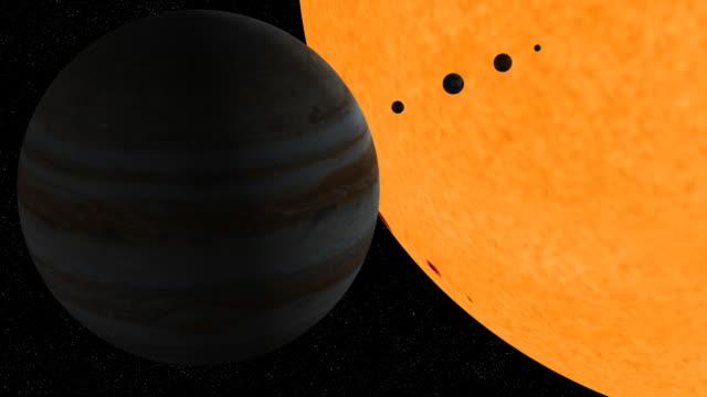Solar system journey video