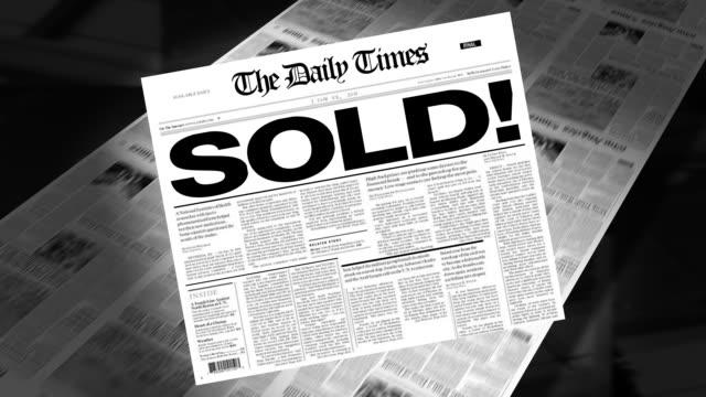 Sold! - Newspaper Headline (Intro + Loops) video