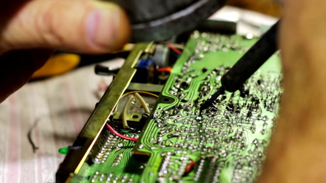 Soldering Electronics on Circuit Board video