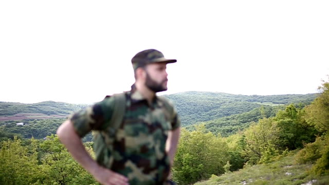 Soldier deep in the wild video