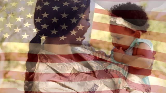 soldat glatt bär sin dotter - moods vector boy bildbanksvideor och videomaterial från bakom kulisserna