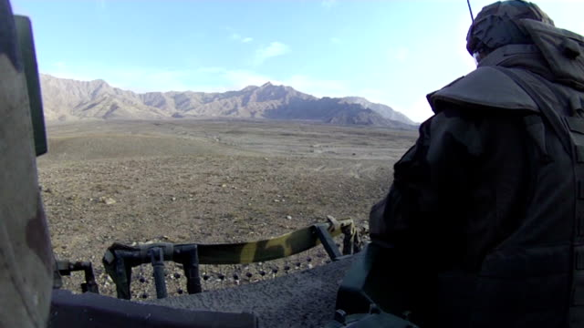 Soldier in Afghanistan video