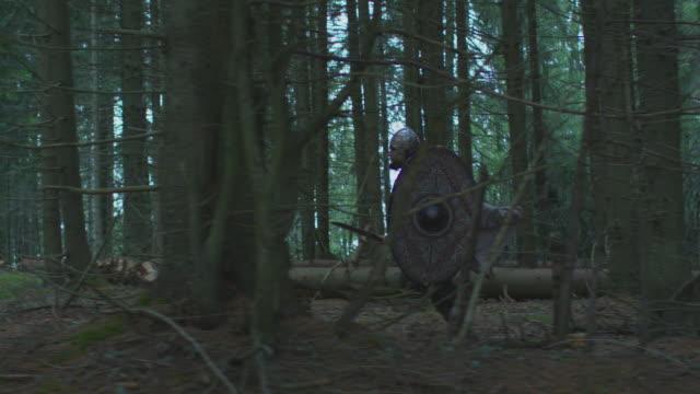 vídeos y material grabado en eventos de stock de soldado corriendo en el bosque - árboles genealógicos