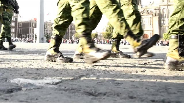 Soldiers in the city Soldiers marching, bottom leg view of soldiers marching in parade syria stock videos & royalty-free footage