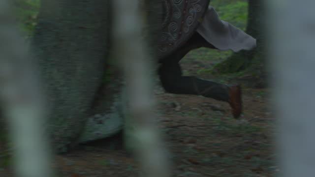 vídeos y material grabado en eventos de stock de las piernas del soldado corriendo - árboles genealógicos