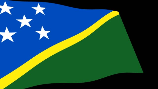 Solomon Islands flag slow waving in perspective, Animation 4K footage Animation 4K footage of Solomon Islands flag slow waving on black background, perspective view allegory painting stock videos & royalty-free footage