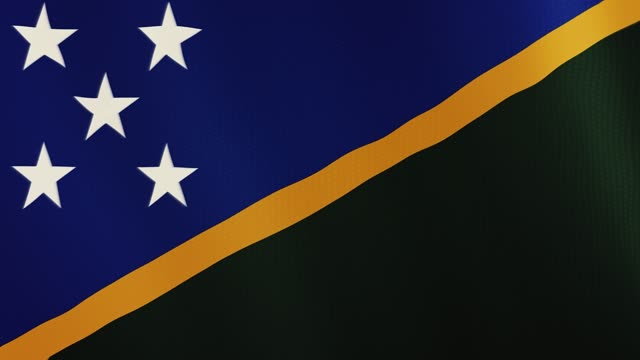 Solomon Islands flag waving animation. Full Screen. Symbol of the country video