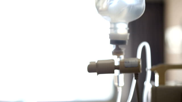 IV solution to help patient, blur shot video