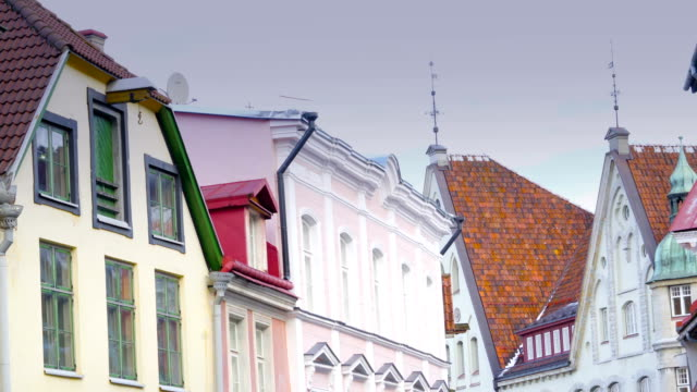 Som eof the old building in Tallin video