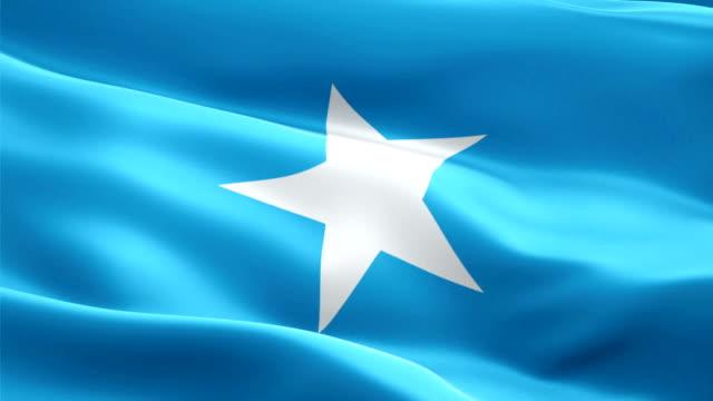 somalia flag motion loop video waving in wind. realistic somali flag background. somalia flag looping closeup 1080p full hd 1920x1080 footage. somalia africa country flags footage video for film,news - kiss filmów i materiałów b-roll