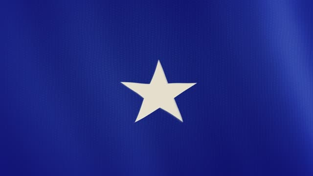 Somalia flag waving animation. Full Screen. Symbol of the country video