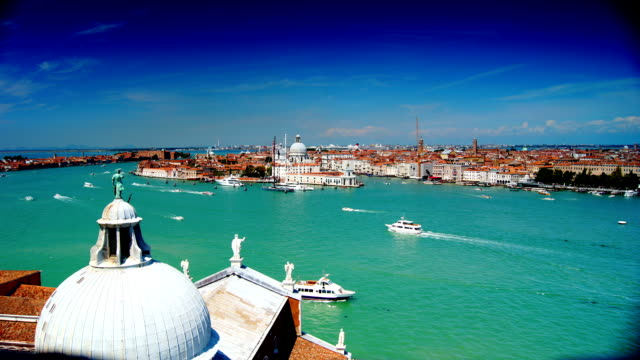some attractions of venice city, aerial view - italian architecture stock videos & royalty-free footage
