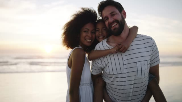 some of our best memories are at the beach - couple portrait caucasian video stock e b–roll