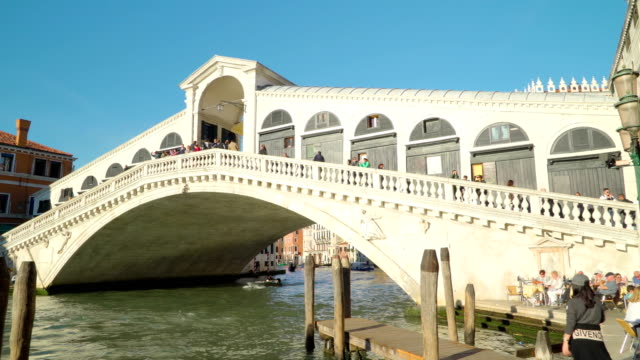 Some people taking photos of the bridge in Venice Italy video