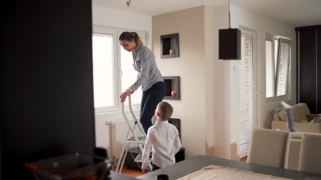 Son, can you help me with lightbulb changing?