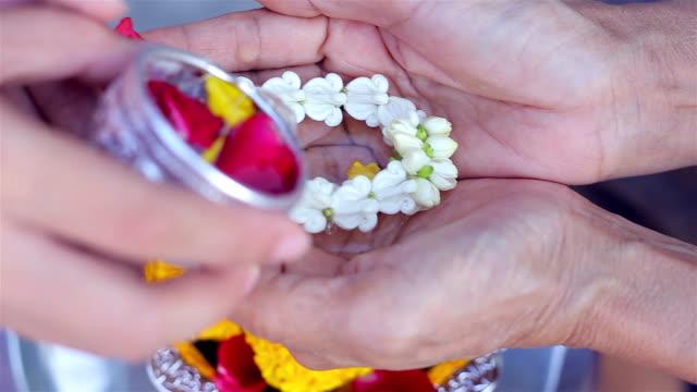 songkran-festival - jasmin stock-videos und b-roll-filmmaterial