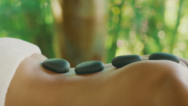 A soothing hot stone massage